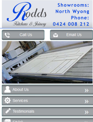 Rodds Kitchens Wyong Mobile App